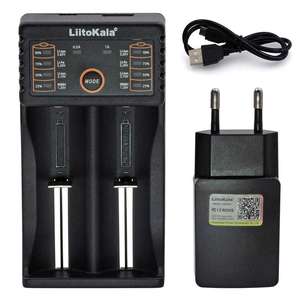 Liitokala Lii402/Lii-202/Lii-100/1.2 V/1.5 V/3.7 V 18650/26650/18350/16340/18500/AA/AAA NiMH lithium batterij Oplader 5 V 2A plug