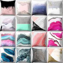 Hongbo 1 Pcs Colorful Marble Printed Pillow Case Cushion Cover Bed Pillowcase Square For Car Sofa Home Decor