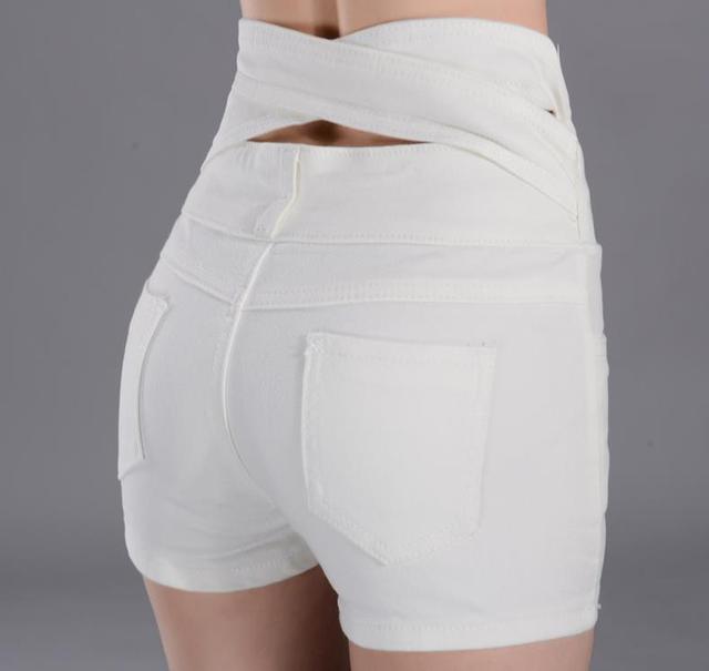 plus size summer high waist shorts female jeans shorts Single-breasted denim women 6xl