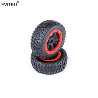 FVITEU Rubber Crushed stone wheel tires set for 1/5 Losi 5ive t Rovan LT King Motor x2