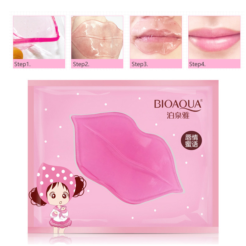 BIOAQUA Skin Care Crystal Collagen Facial Mask Lip Mask Moisture Essence Lip Care Pads Anti Ageing Wrinkle Patch Pad Gel(China)