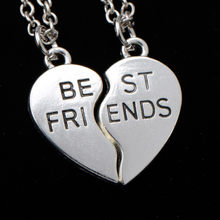 2 PCS Fashion Heart Puzzle Best Friends BFF Necklace Friendship For Women Men Jewelry Pendant Necklaces Chain Collier(China)