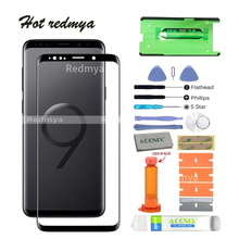 """Get more info on the pantalla front glass replacement For Samsung Galaxy S9 G960 5.8"""" S9 Plus G965 6.2"""" LCD touch Front Outer Glass repuesto+ tools"""