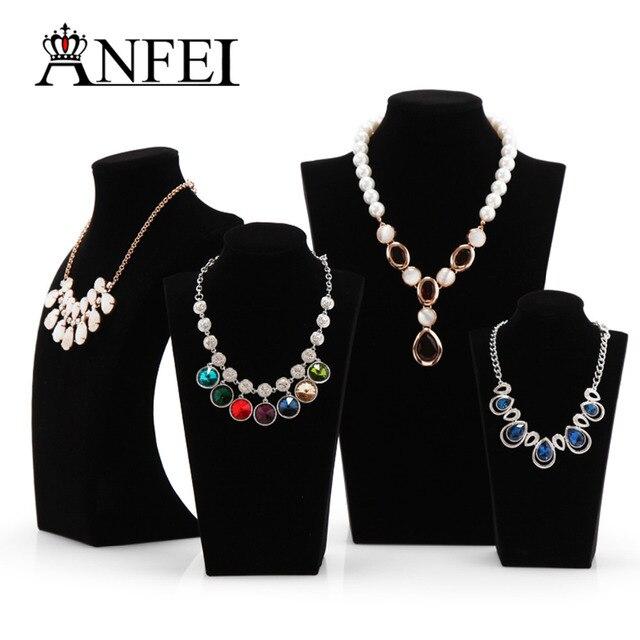 ANFEI Wholesale Distinguished Black Velvet Bust NecklacePendant