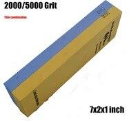2000/5000 اكسيد الالمونيوم حصى 7x2x1 بوصة سكين المطبخ طحن تلميع مزيج المشحذ الحجر المياه sanying