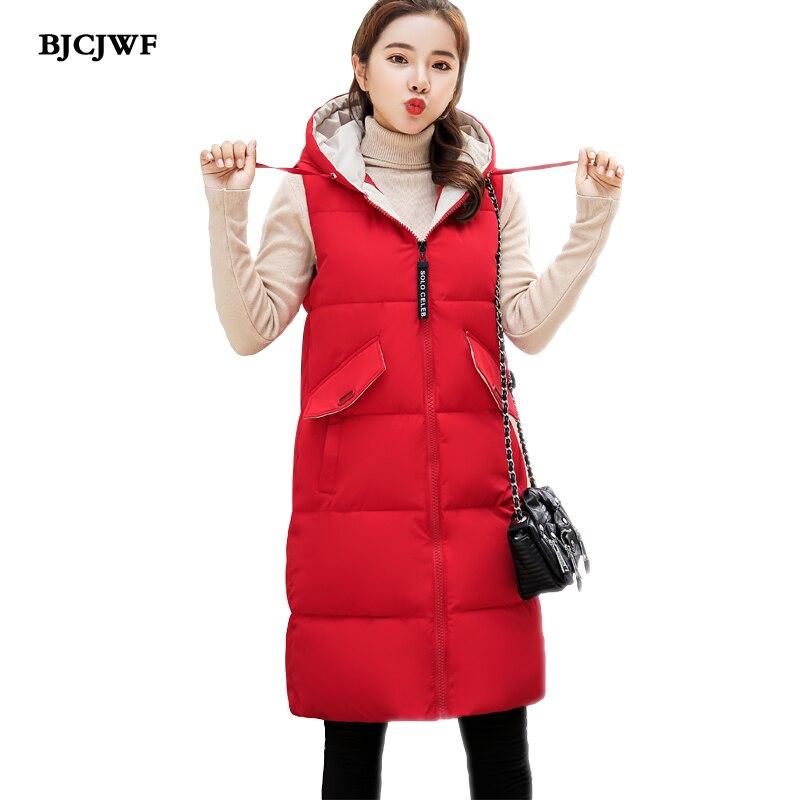 Chalecos Bjcjwf Con Color Chaleco black Capucha Paste bean Grueso Moda Otoño  Mujer Para red Invierno Mujeres Sin Femenino Mangas Algodón ... 96e57cb1a06f