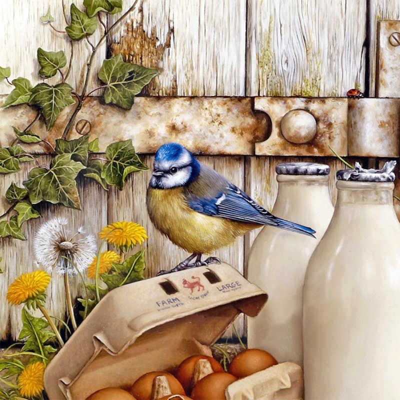 Животные, птицы живопись полный квадратный Стразы для рукоделия 3D diy Алмаз вышивка для кухни украшения дома AC154