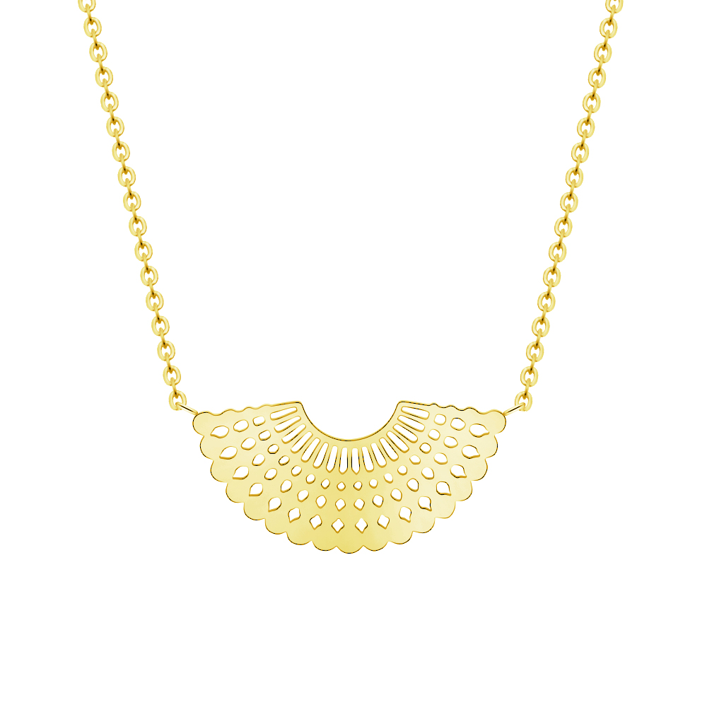 Stainless Steel Ketting Hollows Sector Necklace Choker Ethnic Gold Necklaces Women Handmade Body Jewelry Mother's day Gifts