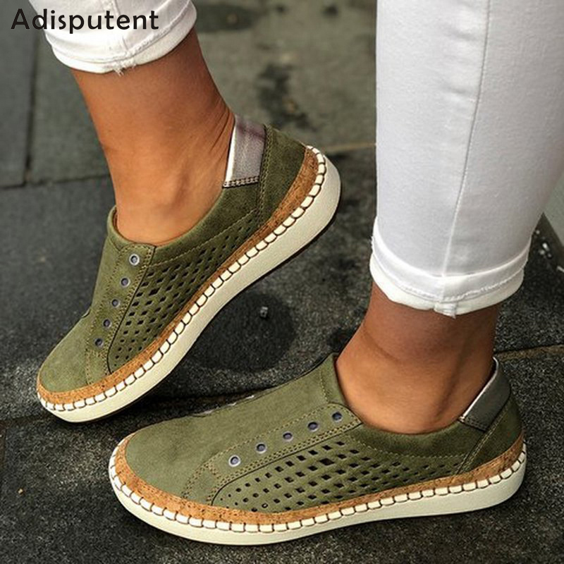 ADISPUTENT Sneakers Women Vulcanize Shoes Casual Breathable Shoes Female Soft Leather Flats Ladies Sneakers 2020