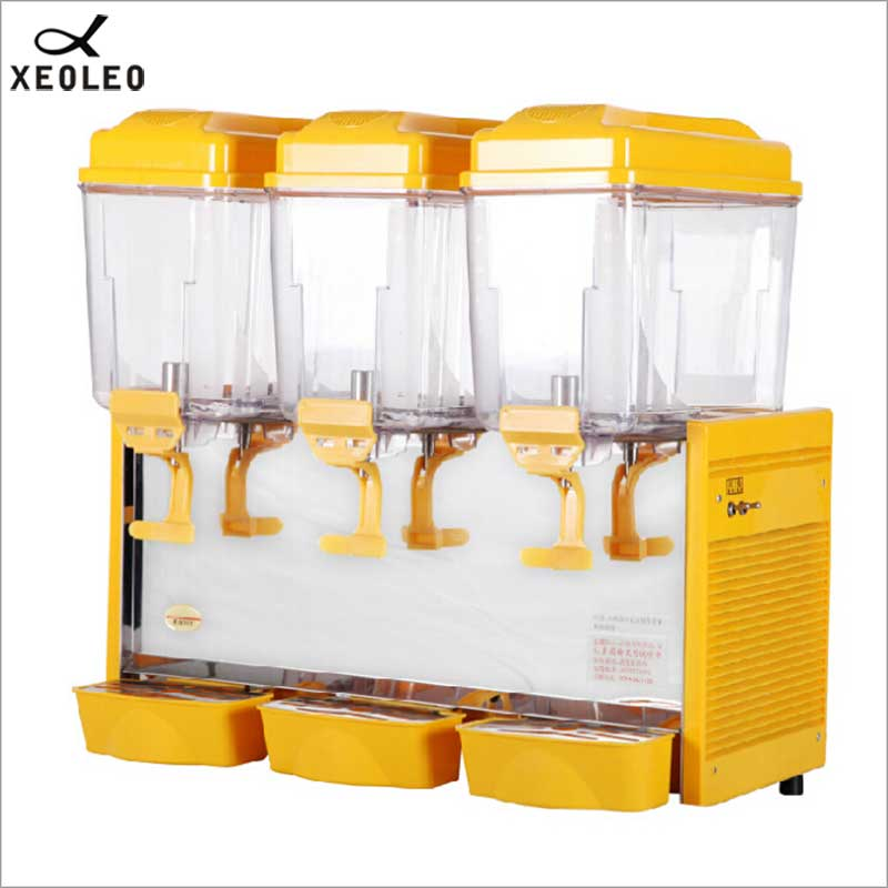 XEOLEO Three Jars Cold&Hot Drink Machine 3*17L Juice Dispenser Commerical Drink Dispenser Mix Type Beverage Machine 220V 480W