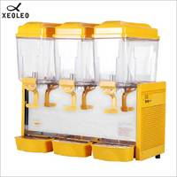 XEOLEO Three jars Cold&Hot Drink machine 3*17L Juice dispenser Commerical Drink dispenser Mix Type Beverage machine 220V 480W
