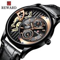 Мужские лучшие брендовые роскошные часы мужские кварцевые часы спортивные деловые наручные часы кожаные Relogio Masculino дропшиппинг