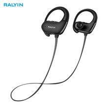 Ralyin sport bluetooth earphones 5.0 waterproof wireless headphones noise cancelling headsets stereo earbuds