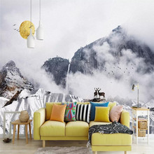 Abstract snow mountain background wall modern minimalist decorative painting professional manufacture mural photo wallpaper