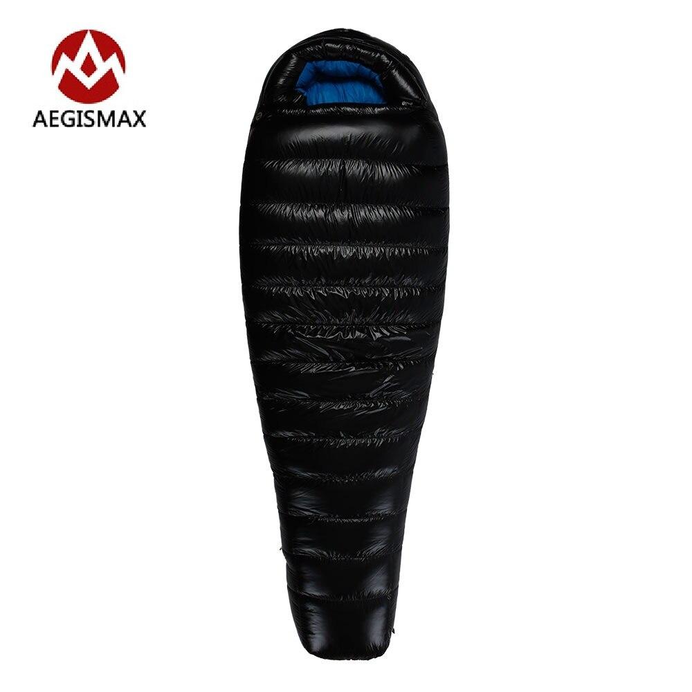 AEGISMAX Winter Goose Down Sleeping Bag Splicing Single Mummy Cold Weather Sleeping Bags G1 G2 G3