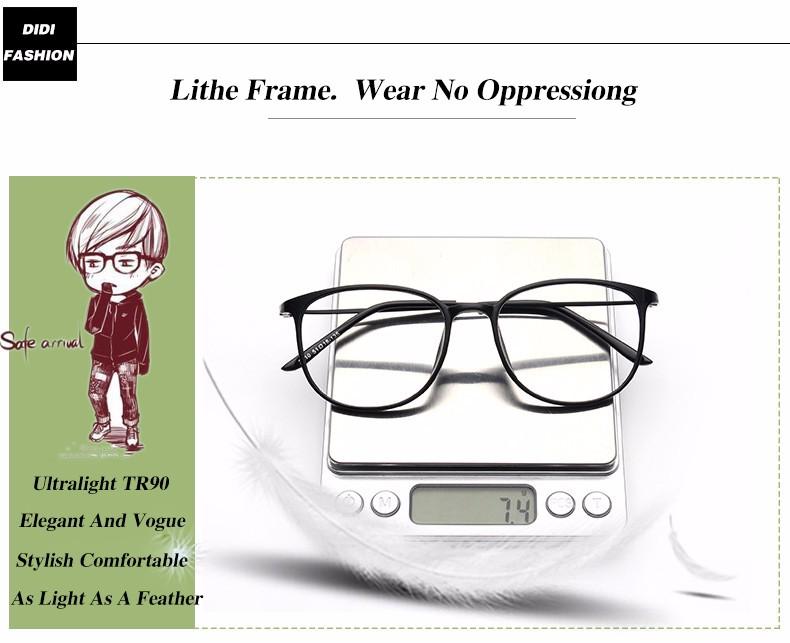 cf5e299df2 DIDI Lovers TR90 titanium eyeglasses Frame Eyewear Optical Frame Clear Lens  Glasses Prescription Frames Spectacles Oculos U582