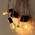 10 pcs LEDs1.6M LEVOU seqüência de luz Alimentado Por Bateria LUZ Fada String para Festa de Casamento Do Feriado Do Natal Queda De Potência À PROVA D' ÁGUA
