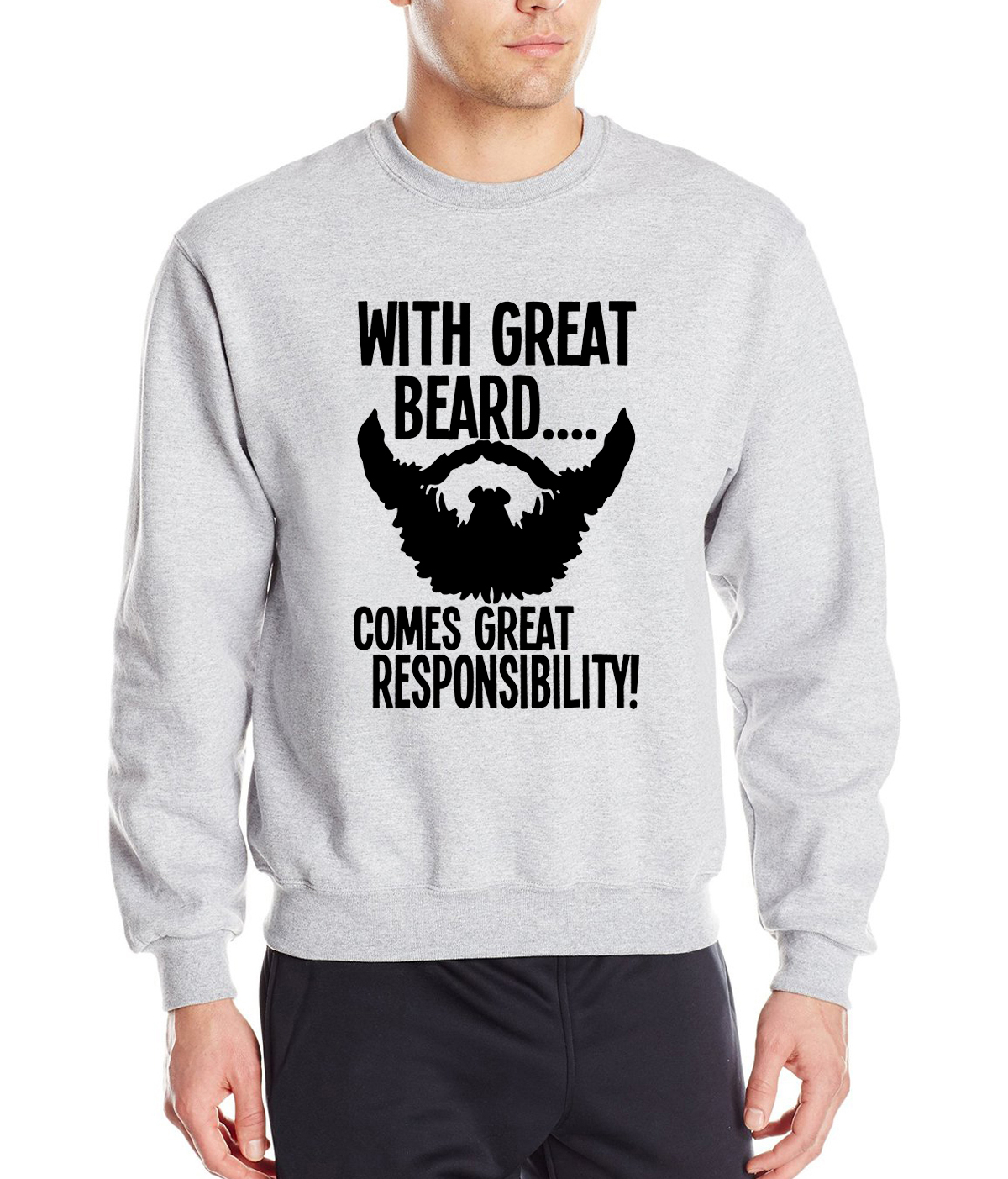funny men clothing With Great Beard Comes Great Responsibility print 2019 new style spring winter fashion men sweatshirt hoodies
