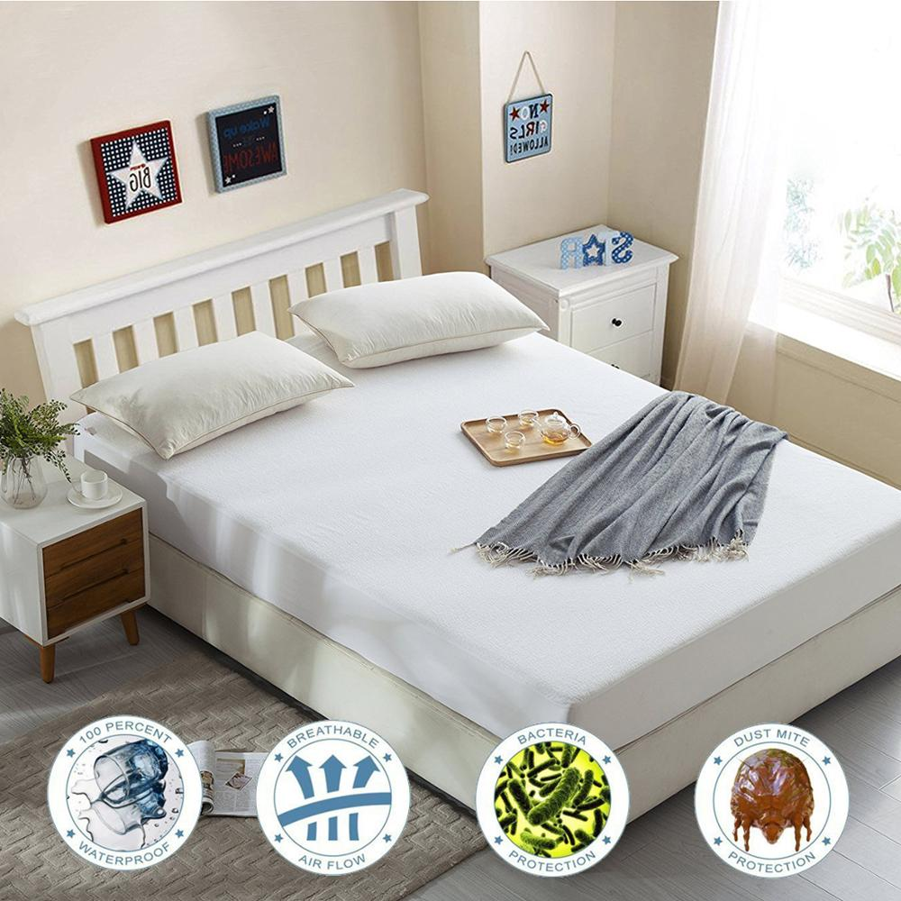 LFH Twin/Full/Queen/King Terry Waterproof Matress Cover Fitted Sheet Mattress Pad Dust Mite Mattress Protector Sofa Bed Cover