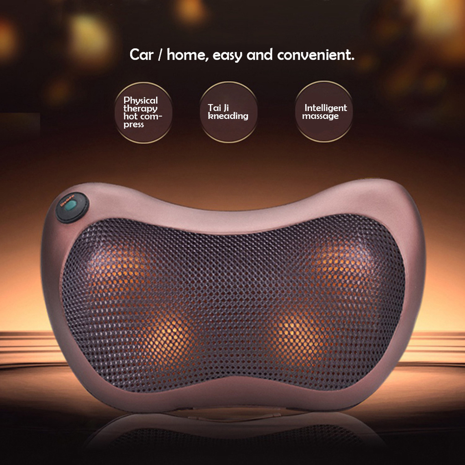 Neck Back Deep Kneading Massage Pillow Multi Function for Car Home Butterfly Design Mesh Fabric 4