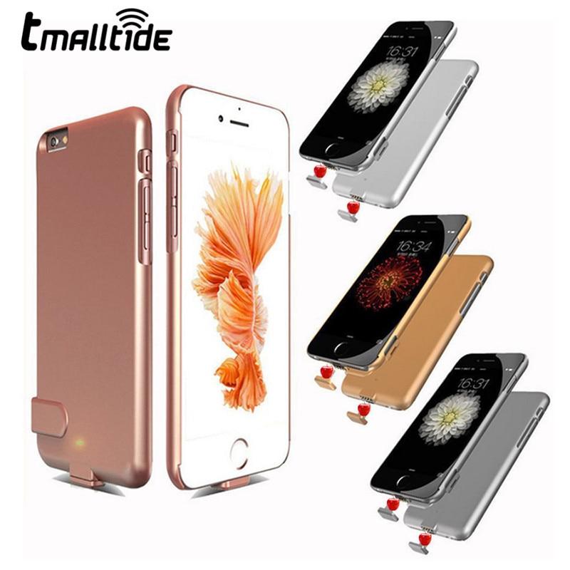 imágenes para Tmalltide ultra delgada recargable de reserva externo del cargador de batería para iphone 6 6s 7 más cubierta de la energía bank