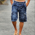 New Arrival 2016 Men's Denim Shorts Male Fashion Shorts Multi-pocket Cargo Shorts Washed Denim Short Pants Men Jeans A1321