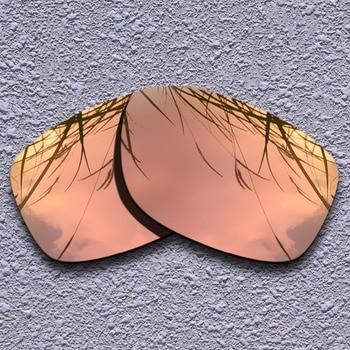 198b90dd88 Cristales de repuesto polarizados dorados de melocotón para gafas de sol  cuadradas de Oakley jumpter
