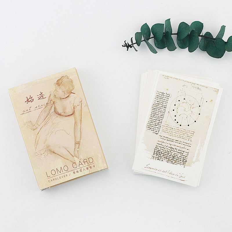 28 Sheets/Set I And The Cat  Mini Lomo Postcard /Greeting Card/Birthday Letter Envelope Gift Card Message Card