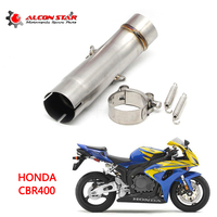 Alconstar Motorcycle Exhaust Middle Contact Pipe Link Connector for HONDA CBR400 CB400X without exhaust Slip On Racing