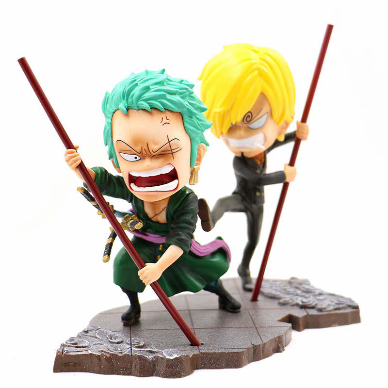 One Piece Spring Festival Ver Action & Toy Figures Action Figure 1/8 Scale Painted Figure Dragon Dancing Zoro Sanji Pvc Figure Toys Brinquedos Anime 100% Original