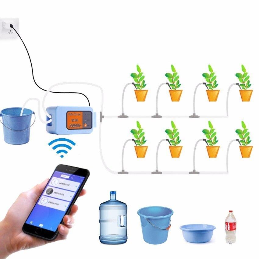 Nieuwste Mobiele Telefoon Remote WIFI Controle sproeisysteem apparaat Intelligente Auto Drip Irrigatiesysteem Tuin plant waterpomp timer