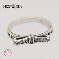 FirstQueen Prata серебро парковка лук кольцо на палец серебряные кольца 925 пробы Прямая поставка для изготовления ювелирных изделий