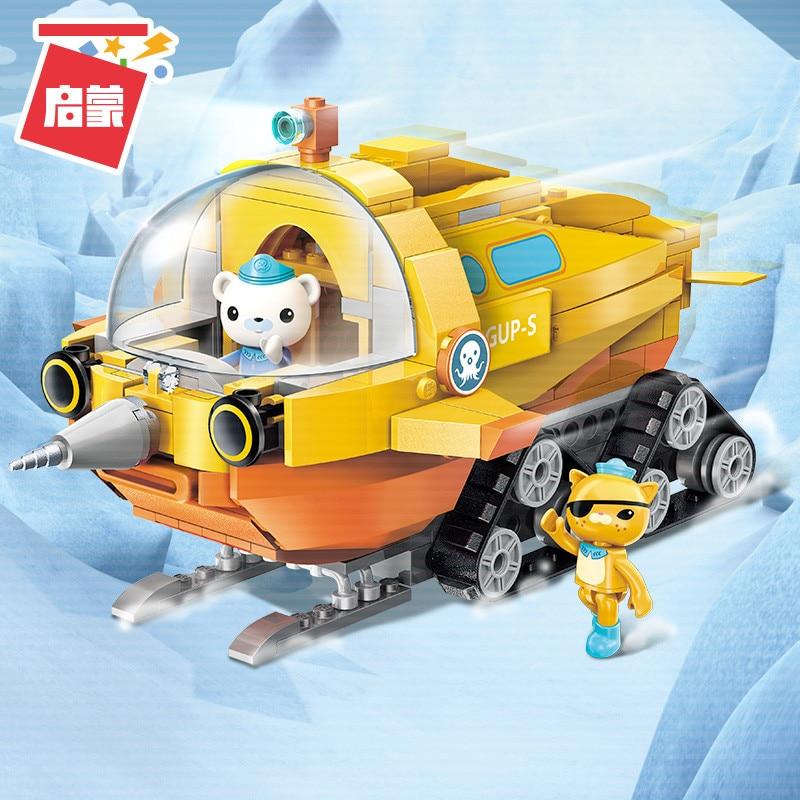 Octonauts Building Block GUP-S Polar Exploration Vehicle & Barnacles Kwazii 275pcs Educational Bricks Toy For Boy Gift