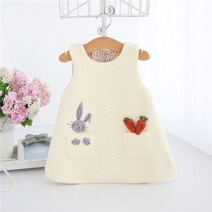 Image 3 - Newborn Autumn Rabbit and Carrot Appliques Baby Girls Infant Dress&clothes Kids Party Birthday Christening Dress 0 2T