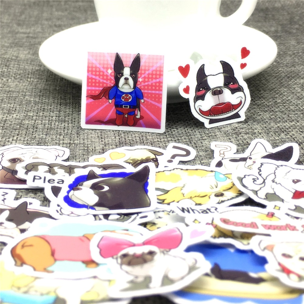40 pcs Cartoon dog daily behavior Stickers Scrapbooking Decoration DIY toy phoneAblum Diary Label Sticker Kawaii Stationery
