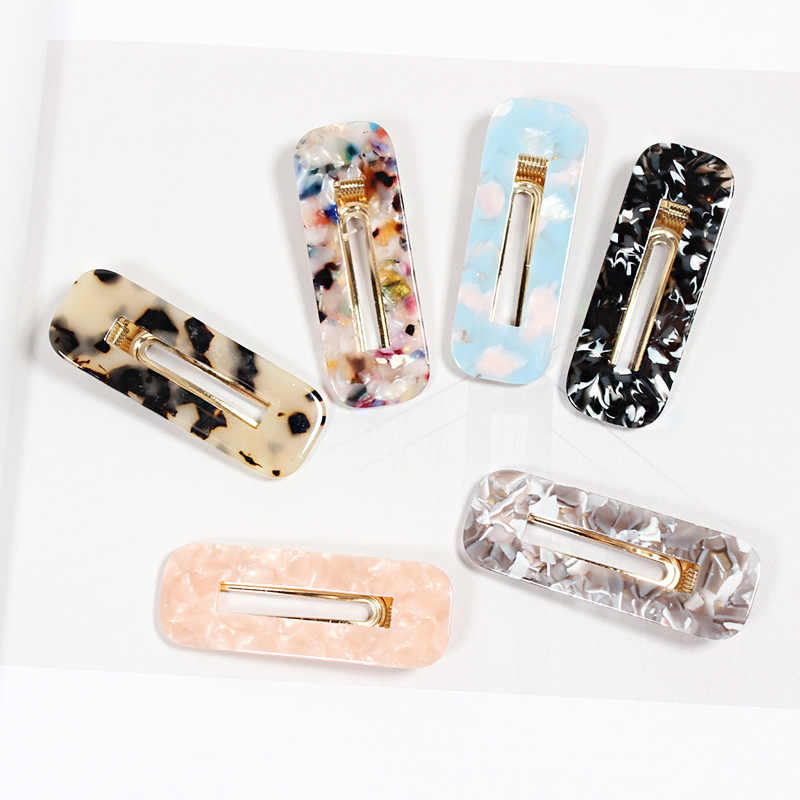 1PCS Fashion Women Acetic Acid Hair Clips Hairpins Leopard Print Waterdrop Barrettes Girls Hairgrips Hair Accessories
