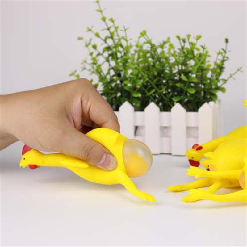 Divertida broma Squeeze Balle Chicken Toy para niños Adulto Gadget - Nuevos juguetes y juegos - foto 5