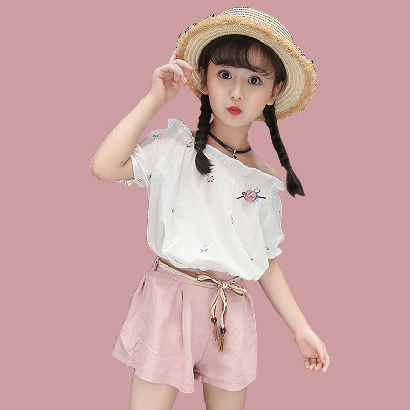 Girls Clothing Sets For Teens Summer Short Sleeve Tops+pants Children Clothes Girl Outfits Kids Sports Suits Big Teenage Clothes