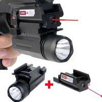 Hunting Weapon Lights Red Dot Laser Sight LED Flashlight 2in1 Combo For Pistol Guns 1911 M9