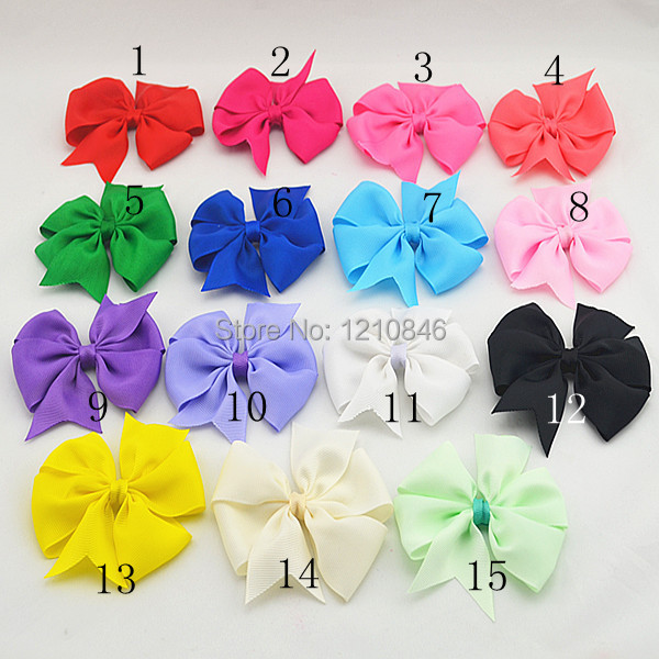 DIY high quality grosgrain ribbon hair bows,baby hairbows girl boutique bows clips children hair accessories 12pcs/lot