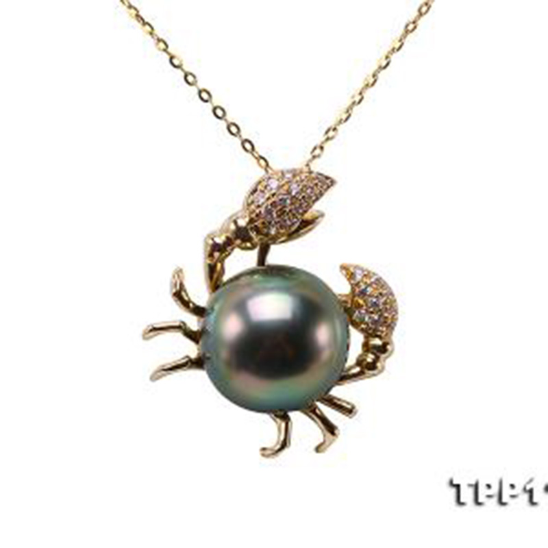 JYX Peacock Black Tahiti Necklace Seawater chain 14K Gold 10mm Peacock Round Tahiti Pearl Pendant Necklaces женские сланцы tahiti