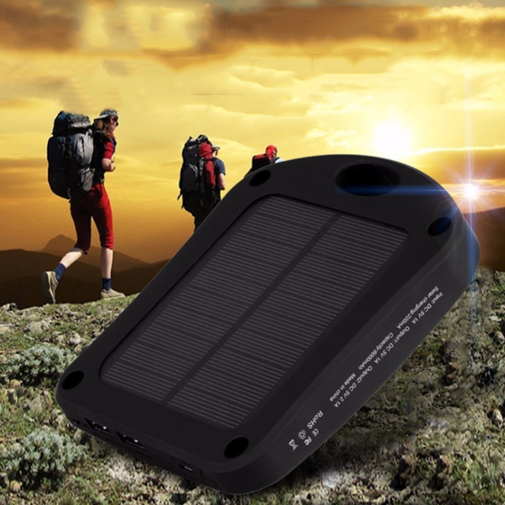 6000mAh Portable Solar Mobile Phone Power Bank Charger Outdoor Emergency Human Body Sensing Wall Lamp Dual USB Travel Power Bank mini usb led lamp portable bendable keyboard usb light for ultrabook notebook laptop power bank adapter wall car charger