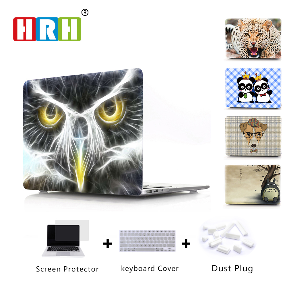 HRH 3D PC Cartoon Laptop Body Shell Protective Hard Case Sleeve For Mac book Pro Retina 13 12 15 Air 13 11 New Pro Touch Bar  15
