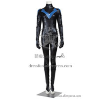 Batman Arkham City Cosplay Costume Nightwing Costume Outfits Uniform Full Set Clothing Christmas Party Fast Shipping Halloween
