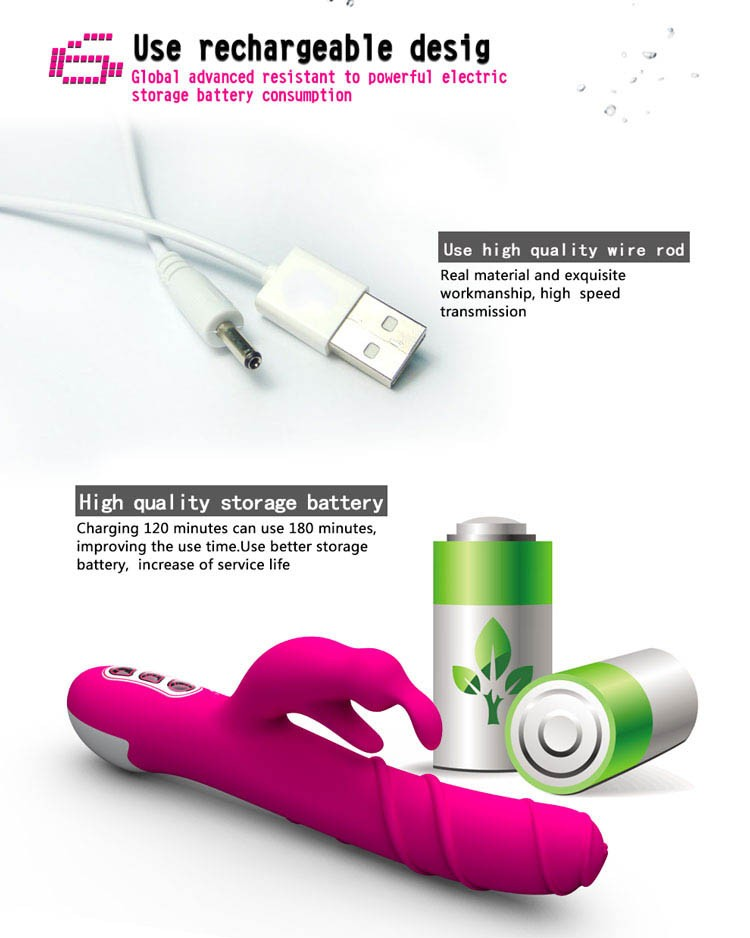 YAFEI USB Rotation Rabbit Vibrator G Spot Thrusting Huge Electric Dildo Vibrators For Women Sexy Vibrating Toys For Women 26