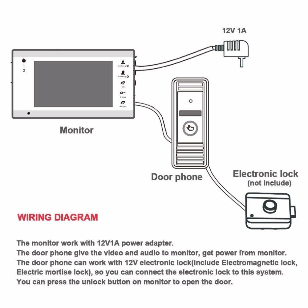 medium resolution of tmezon video door phone system 7 tft monitor with tf card slot 1200tvl outdoor doorbell camera jpg