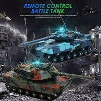 Боевой танк Rc бак автомобиля дистанционного Управление Tank 2 шт. многоцветный способность начала Декор на открытом воздухе вращающийся Ради...