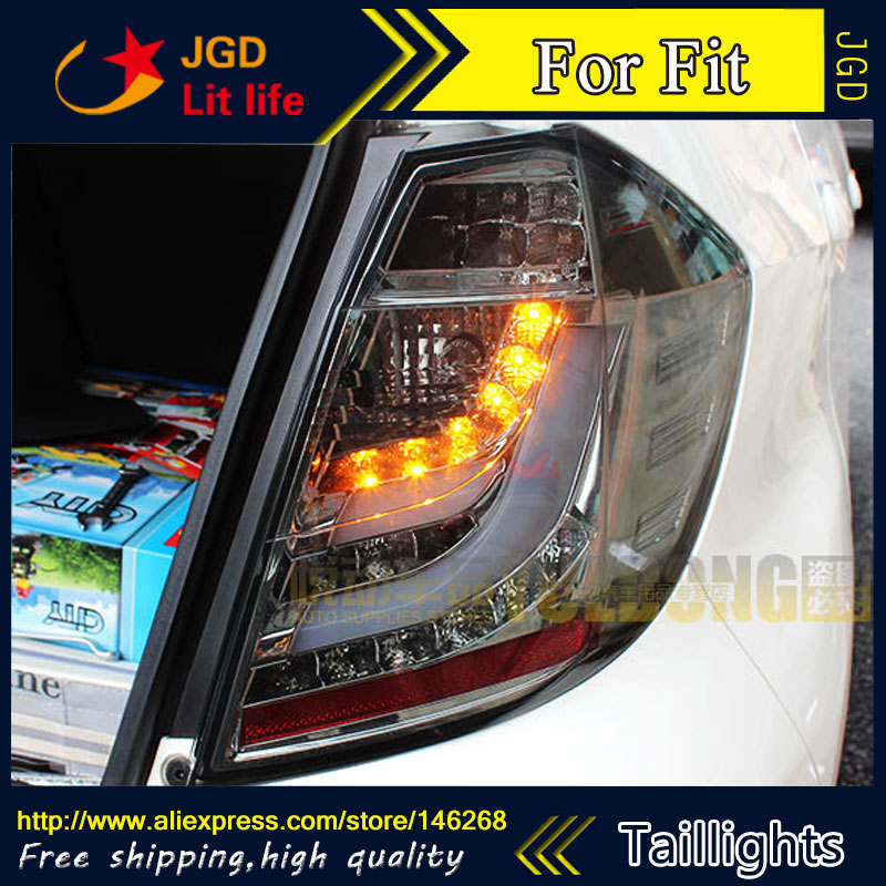 Car Styling tail lights for Honda Fit 2008-2013 taillights LED Tail Lamp rear trunk lamp cover drl+signal+brake+reverse car styling tail lights for toyota fortuner taillights led tail lamp rear trunk lamp cover drl signal brake reverse