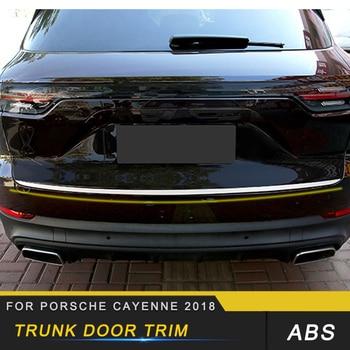 Auto Car-styling Tailgate Trim Trunk Door Trim Cover Exterior Accessories for Porsche Cayenne 2018