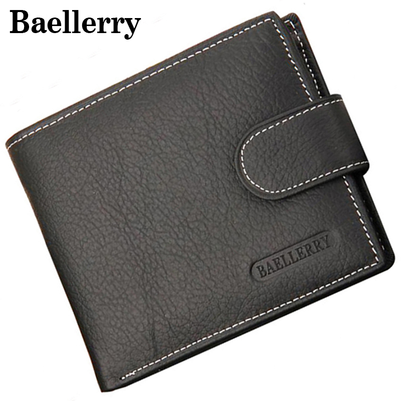 Wallet Men's Purse Genuine Cow Leather Men's Wallets Short Fashion Coin Pocket Purse Baellerry Brand Design Money Billfold Purse 2016 new arriving pu leather short wallet the price is right and grand theft auto new fashion anime cartoon purse cool billfold